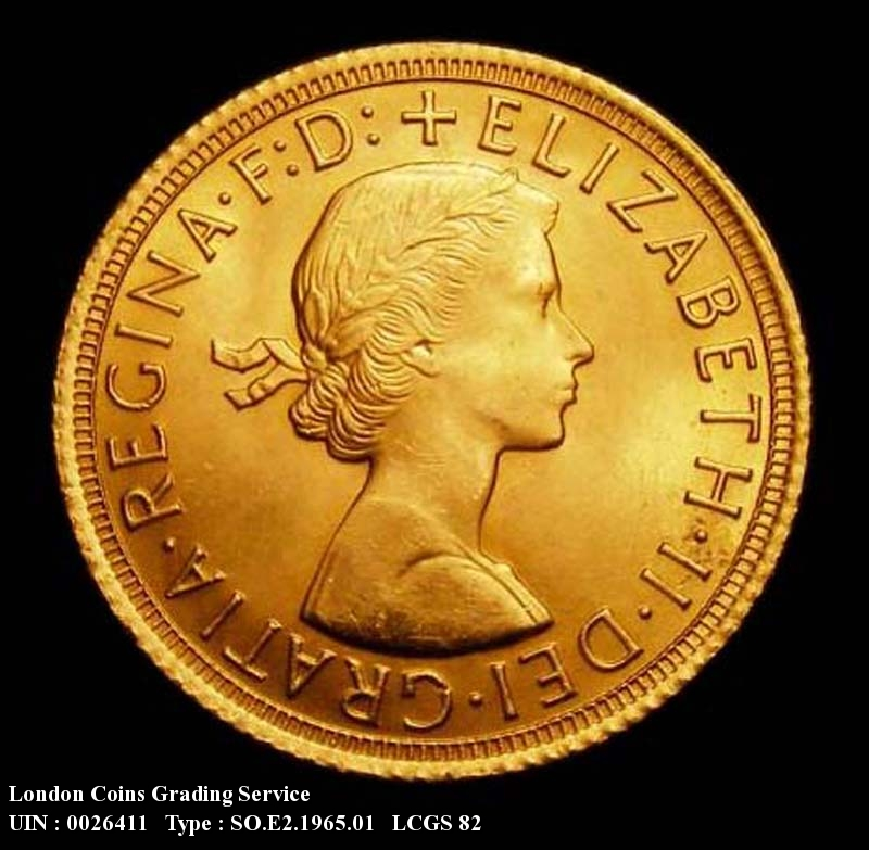Gold Sovereign 1965 Elizabeth II. Standard type - Obverse