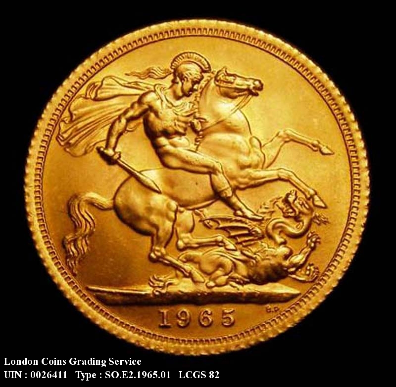 Gold Sovereign 1965 Elizabeth II. Standard type - Reverse
