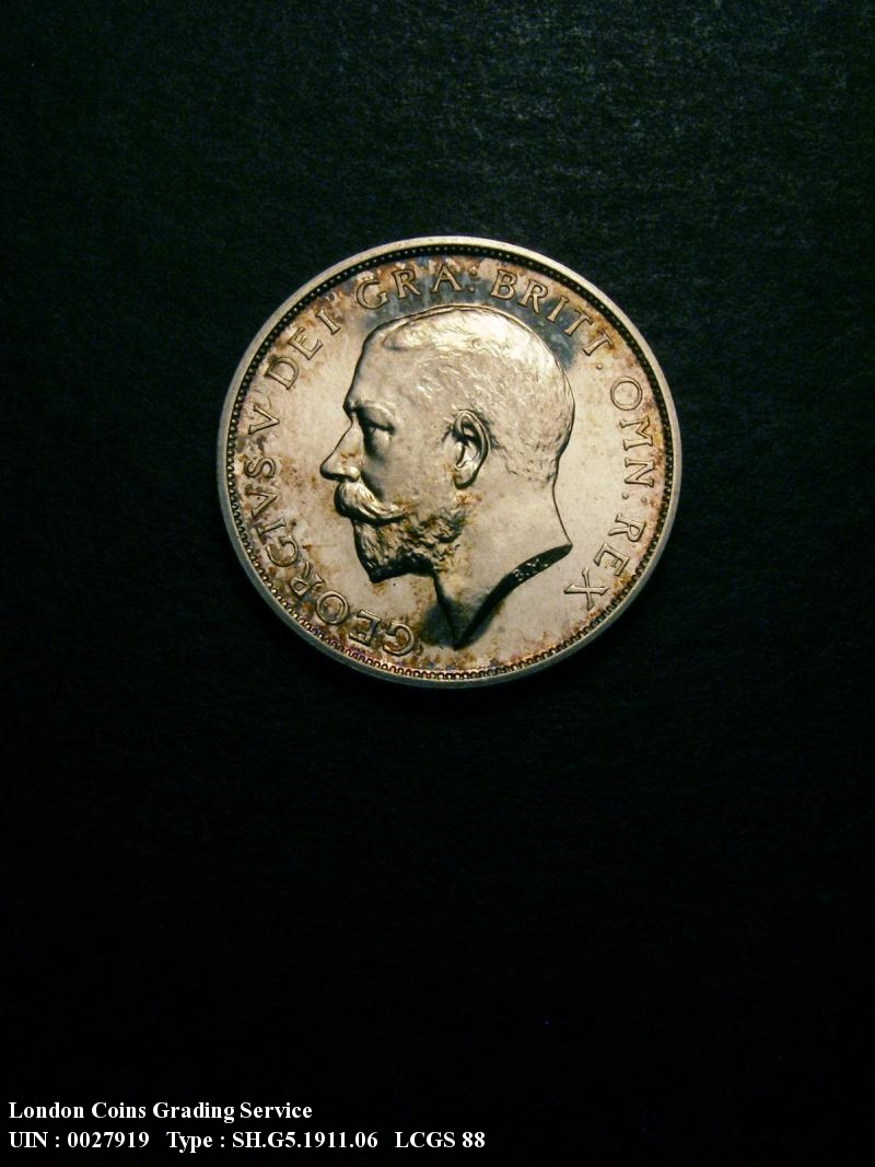 Shilling 1911 George V. dies 3A Obv I of GEORGIVS to bead Full Neck Proof - Obverse