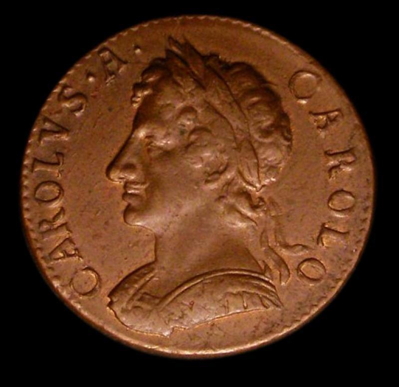 Farthing 1675 Charles II. Standard type - Obverse