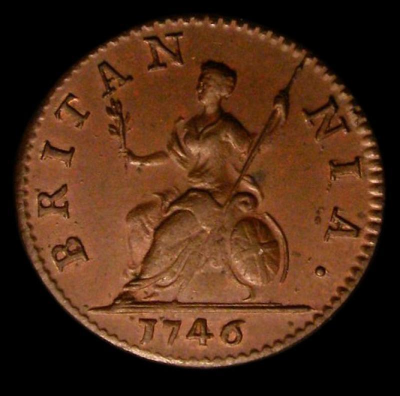 Farthing 1746 George II. Standard type - Reverse