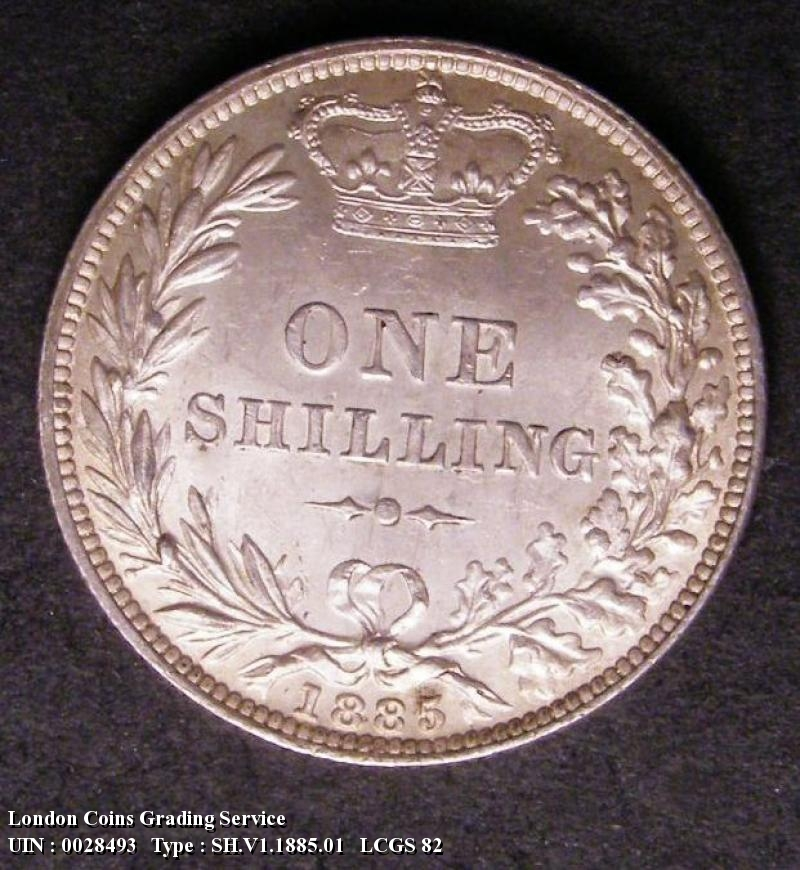 Shilling 1885 Victoria. Standard type - Reverse