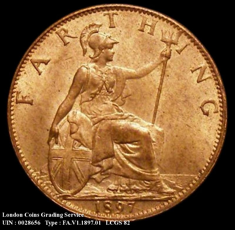 Farthing 1897 Victoria. Dies 1+A. Bright Finish - Reverse