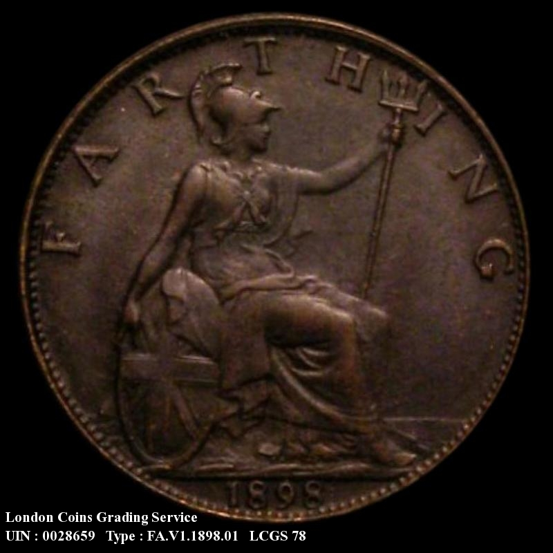 Farthing 1898 Victoria. Dies 1+A - Reverse