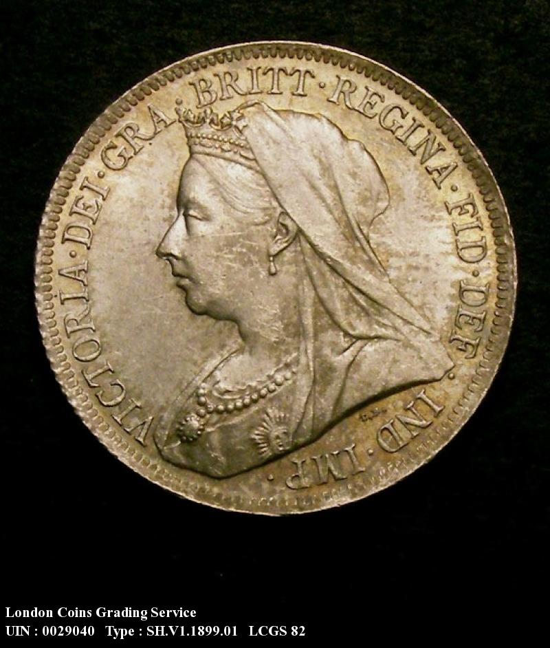 Shilling 1899 Victoria. Standard type - Obverse