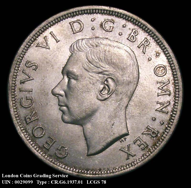 Crown 1937 George VI. Standard type - Obverse