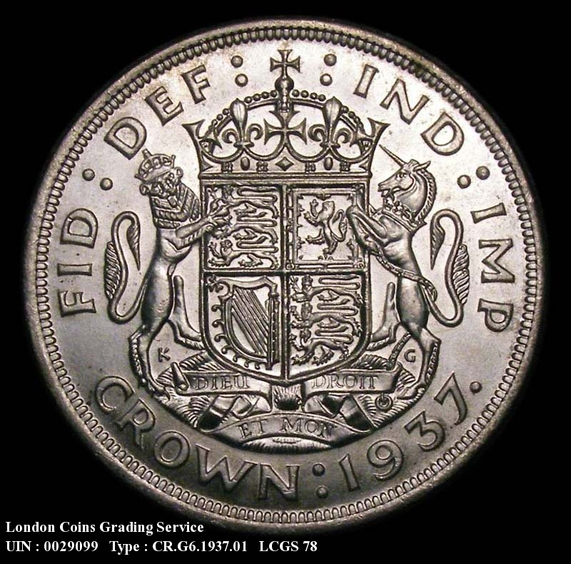 Crown 1937 George VI. Standard type - Reverse