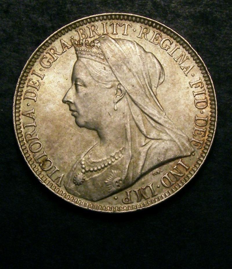 Florin 1897 Victoria. Standard type - Obverse