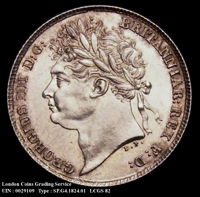 Sixpence 1824 George IV. Standard type - Obverse