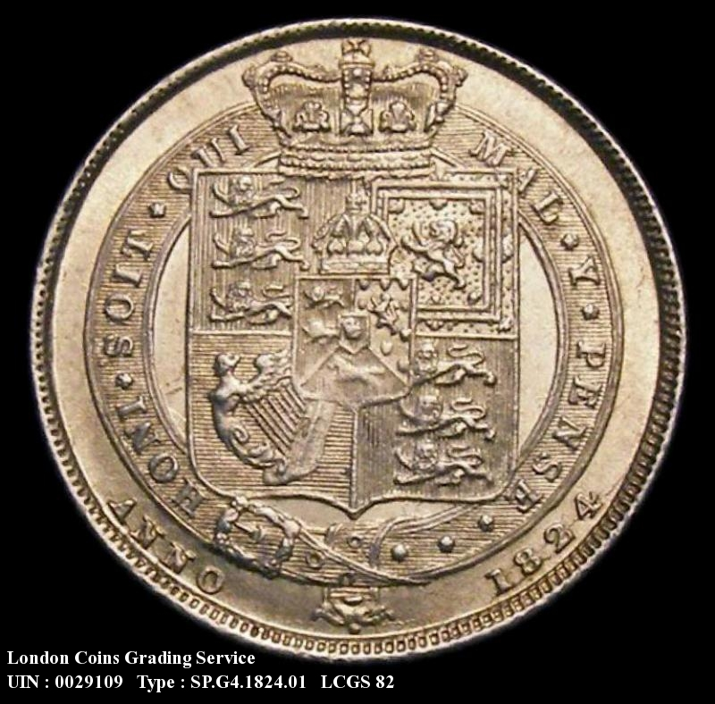 Sixpence 1824 George IV. Standard type - Reverse