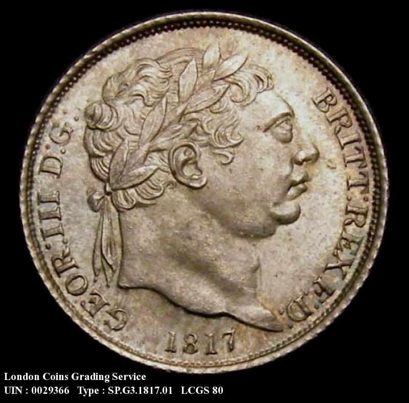 Sixpence 1817 George III. Standard type - Obverse