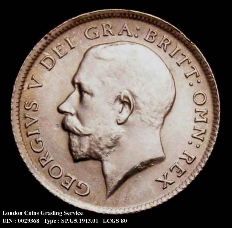 Sixpence 1913 George V. Standard type - Obverse