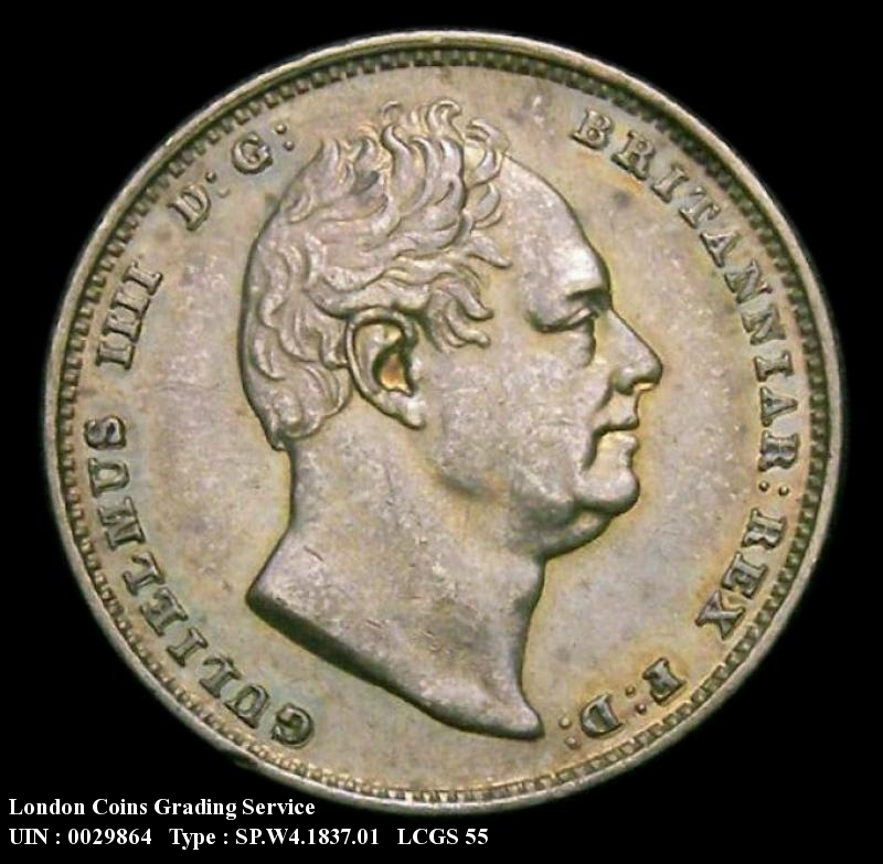 Sixpence 1837 William IV. Standard type - Obverse