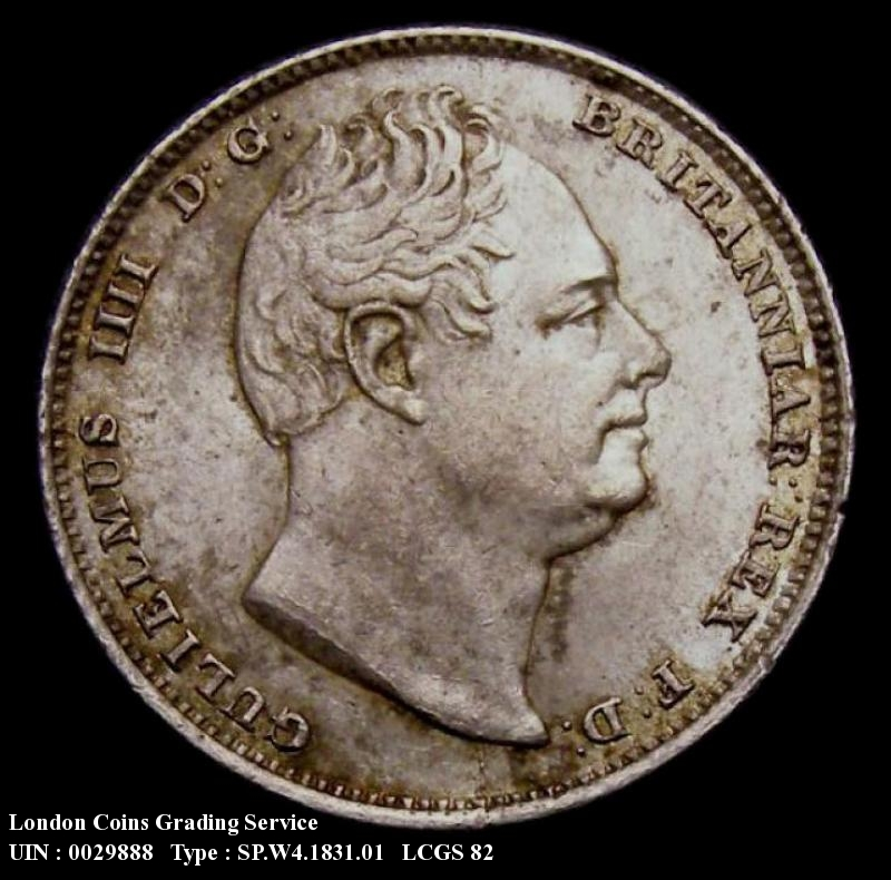 Sixpence 1831 William IV. Standard type - Obverse