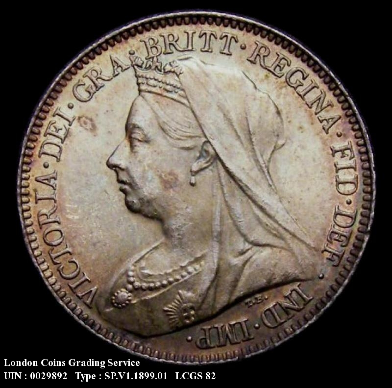 Sixpence 1899 Victoria. Standard type - Obverse