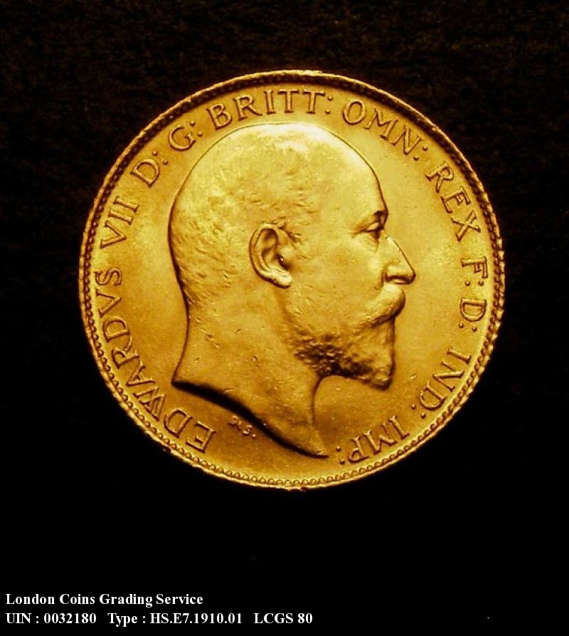 Gold ½ Sovereign 1910 Edward VII. London - Obverse