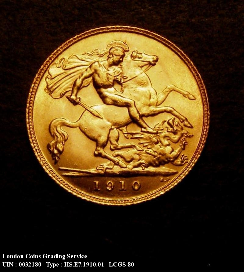 Gold ½ Sovereign 1910 Edward VII. London - Reverse