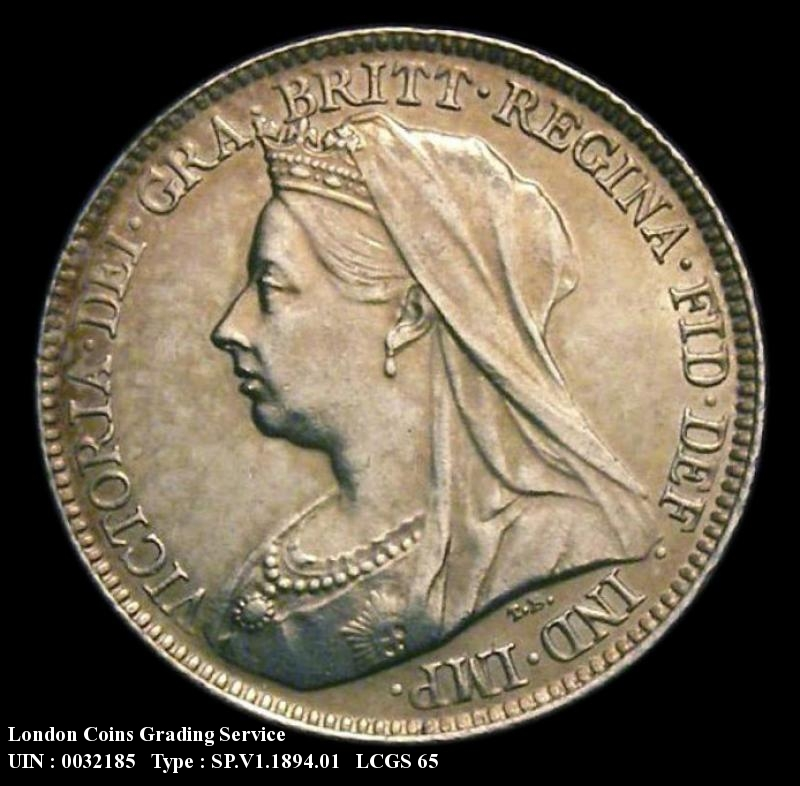 Sixpence 1894 Victoria. Standard type - Obverse