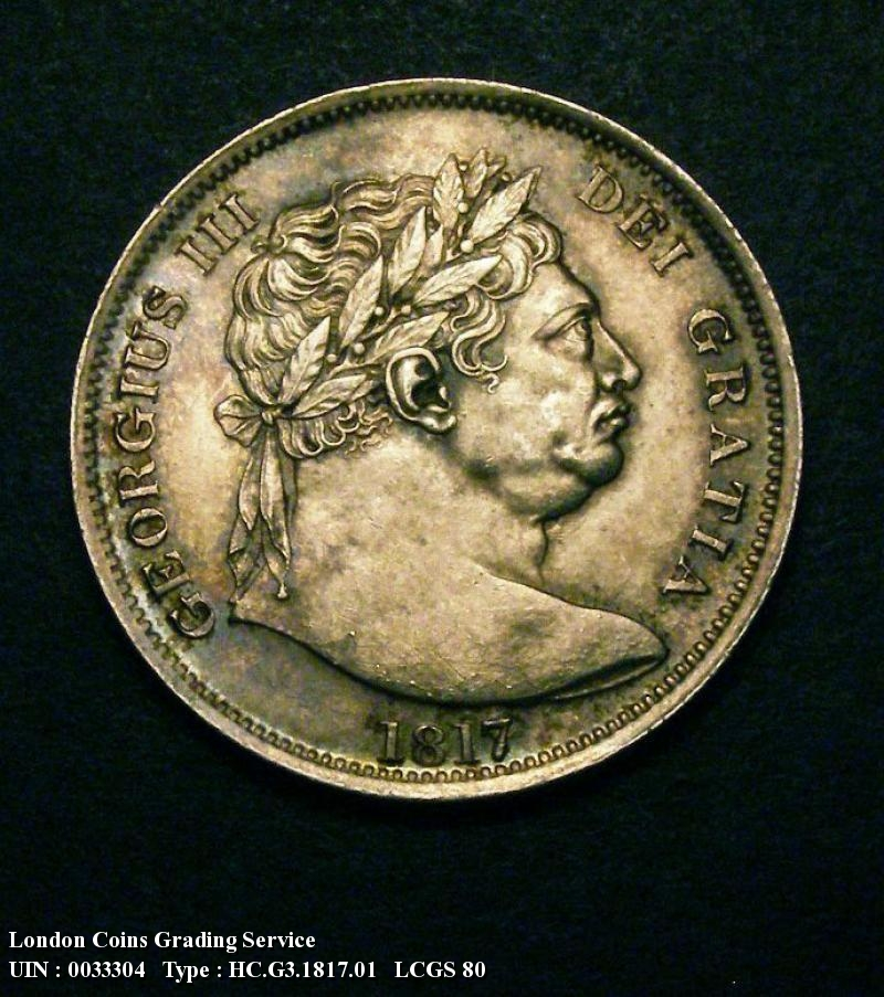 Halfcrown 1817 George III. Bull Head - Obverse