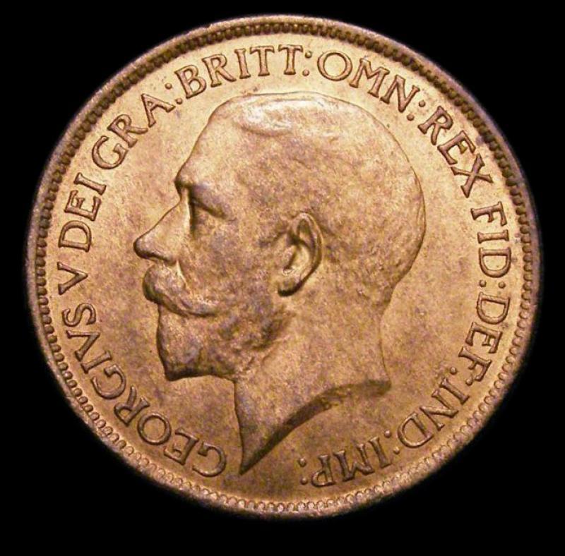 Halfpenny 1916 George V. Dies 1+A - Obverse