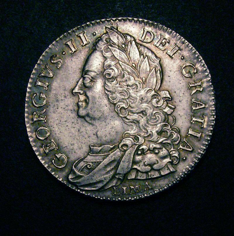 Halfcrown 1746 George II. LIMA - Obverse