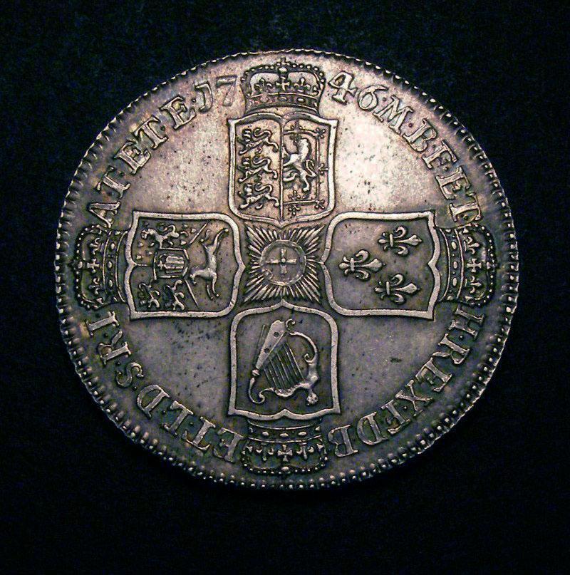 Halfcrown 1746 George II. LIMA - Reverse