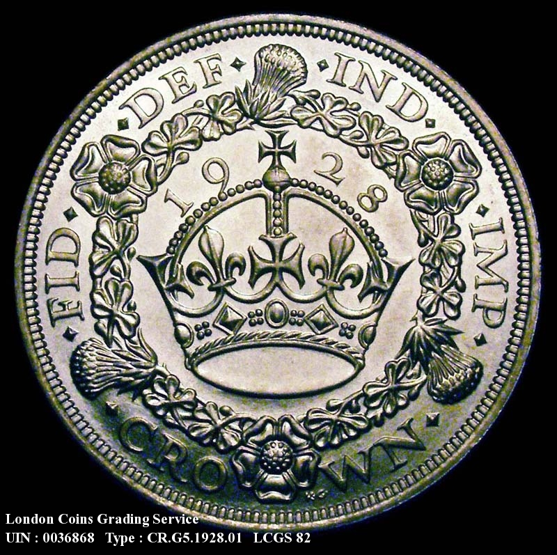 Crown 1928 George V. Standard type - Reverse