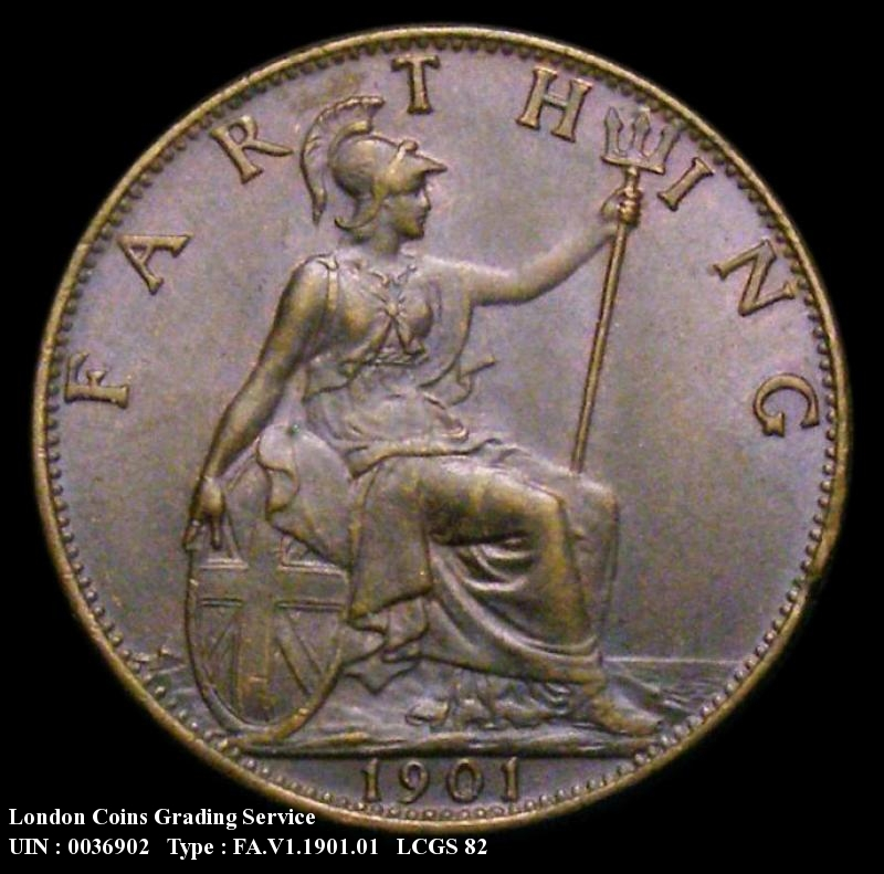 Farthing 1901 Victoria. Dies 1+A - Reverse