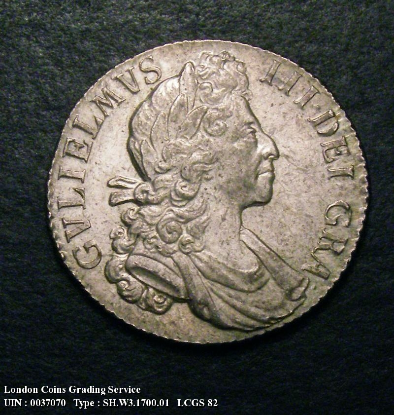 Shilling 1700 William III. Fifth Bust - Obverse