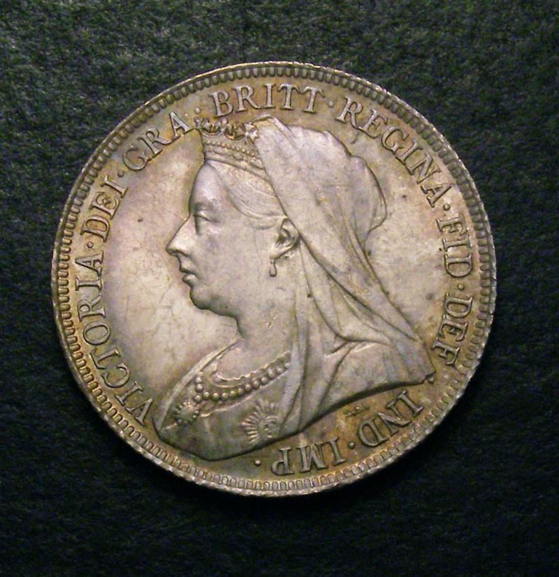 Shilling 1895 Victoria. Large Rose - Obverse