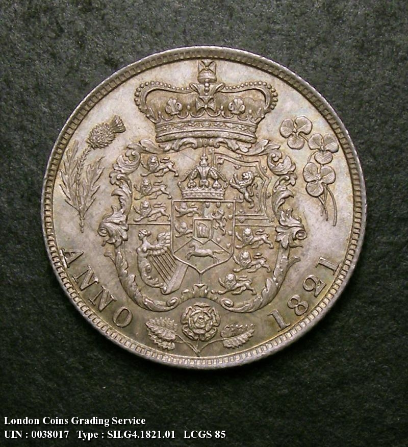 Shilling 1821 George IV. Standard type - Reverse