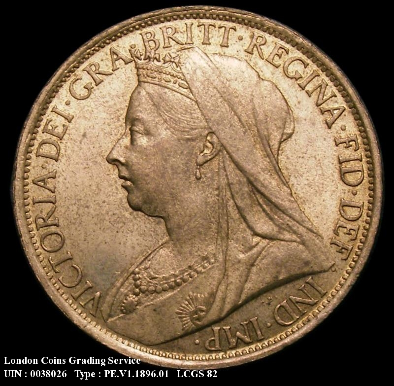 Penny 1896 Victoria. dies 1+B close 96 Note : 10 teeth from the foot of the 1 to the centre of the 6 - Obverse
