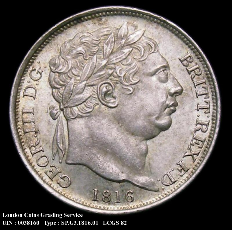 Sixpence 1816 George III. Standard type - Obverse