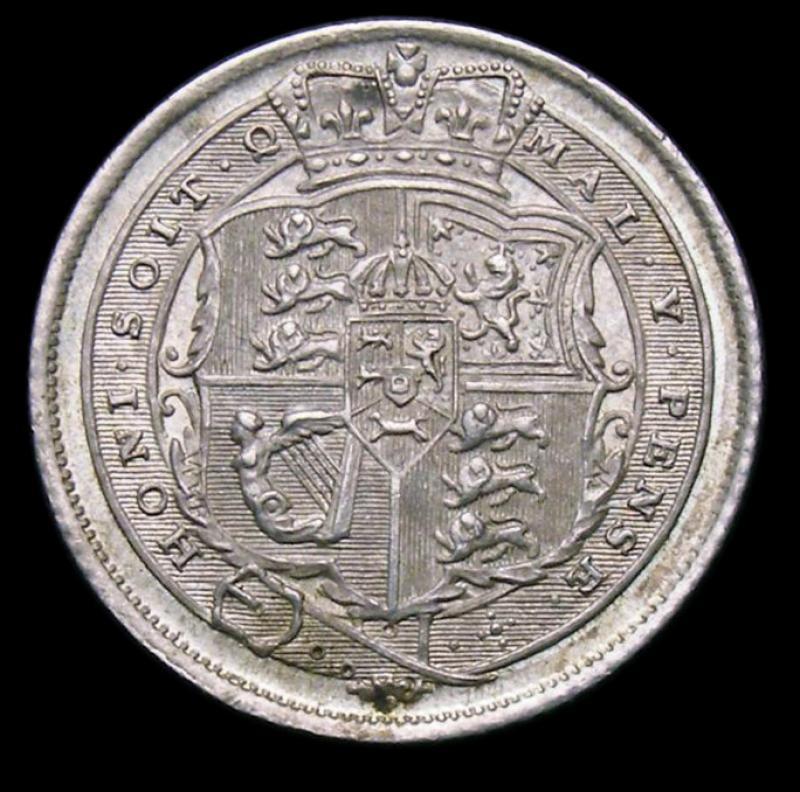 Sixpence 1816 George III. Standard type - Reverse