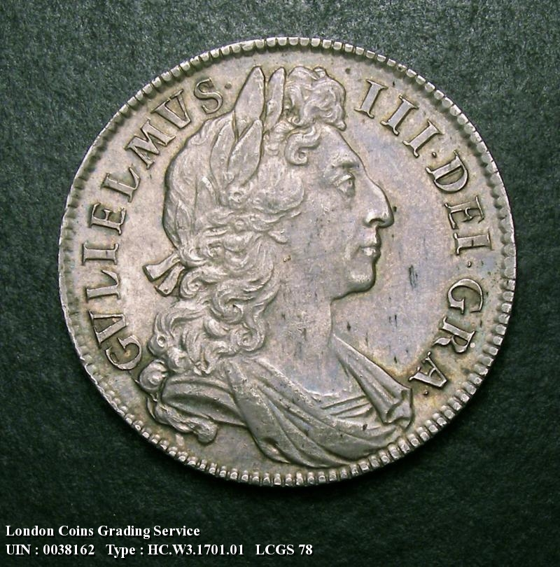 Halfcrown 1701 William III. Standard type - Obverse