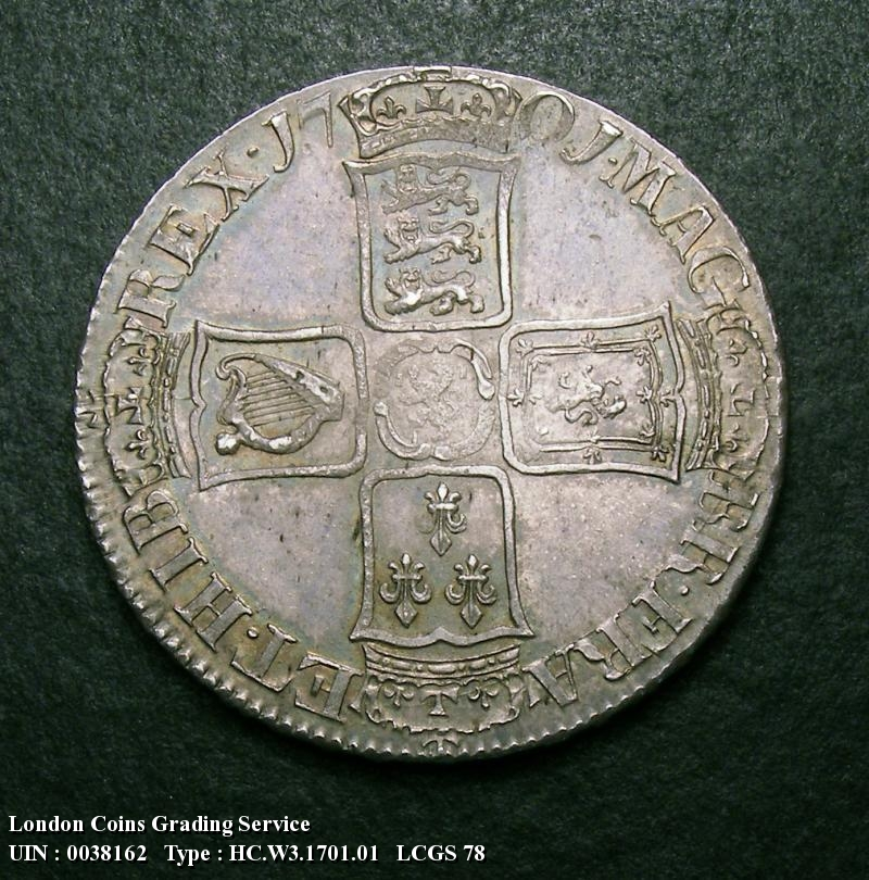 Halfcrown 1701 William III. Standard type - Reverse