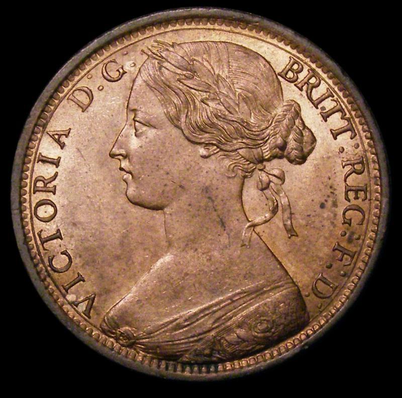 Penny 1862 Victoria. dies 6+G - Obverse