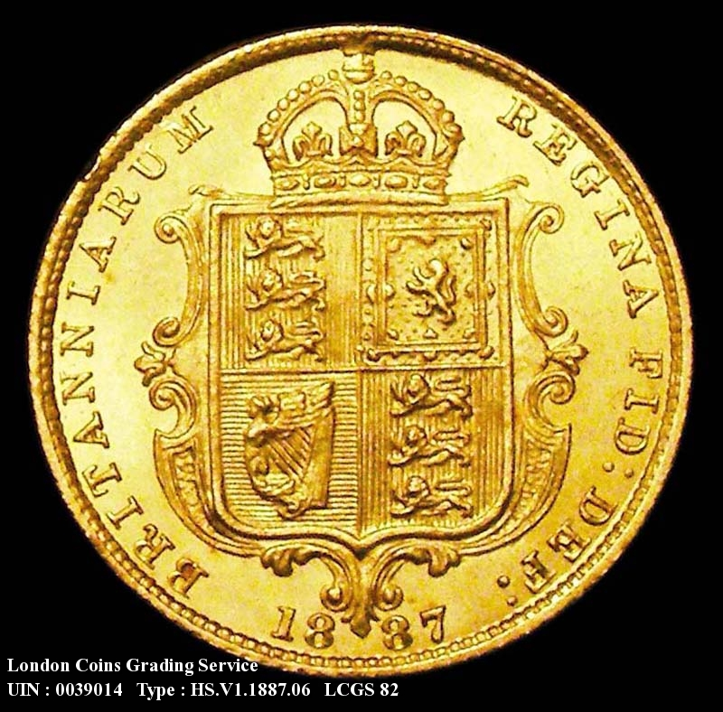 Gold ½ Sovereign 1887 Victoria. Jubilee Head. Imperfect J in J.E.B. - Reverse
