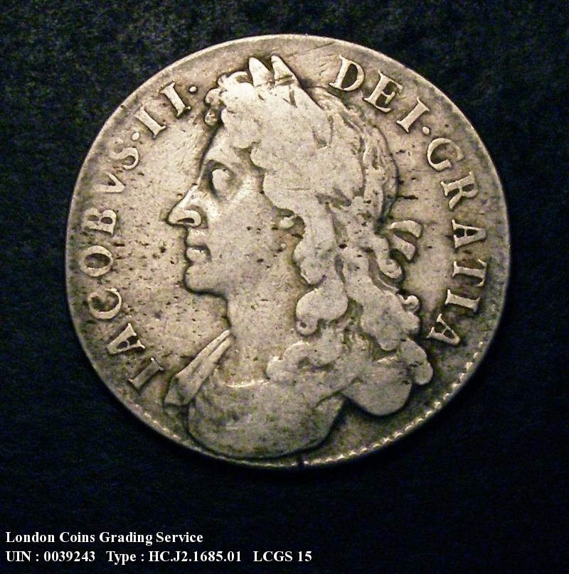 Halfcrown 1685 James II. PRIMO - Obverse