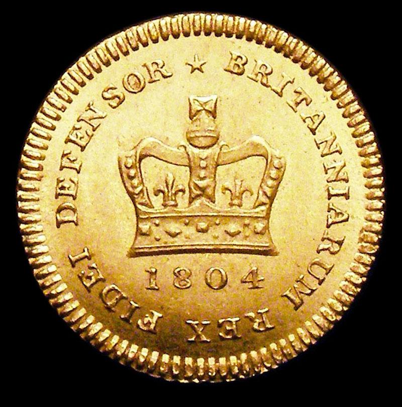 Third Guinea 1804 George III. Standard type - Reverse