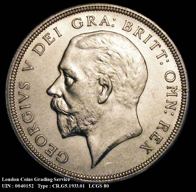 Crown 1933 George V. Standard type - Obverse
