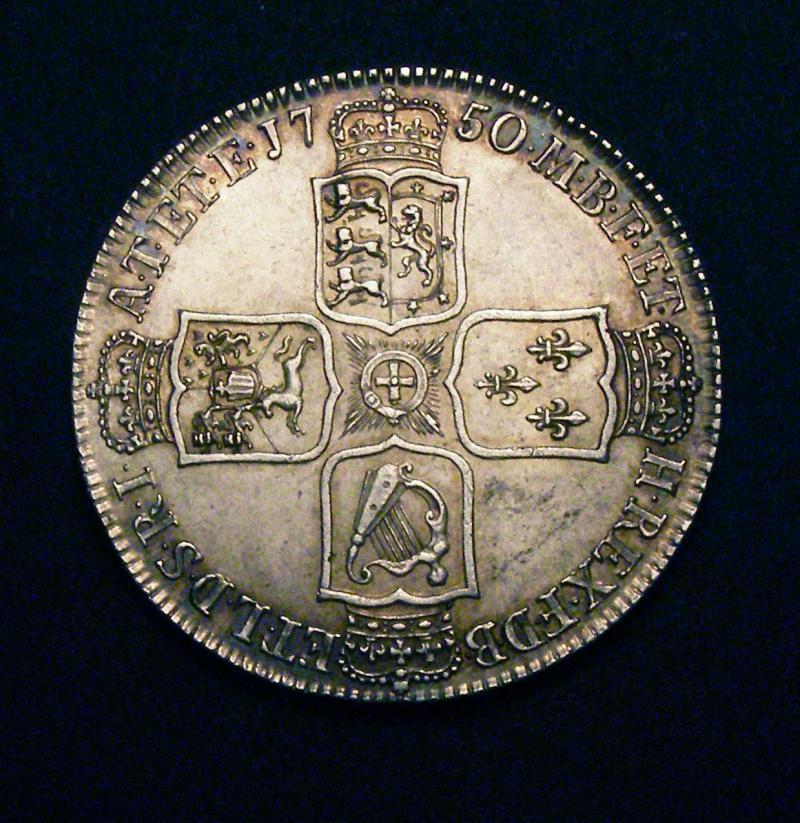 Halfcrown 1750 George II. Standard type - Reverse