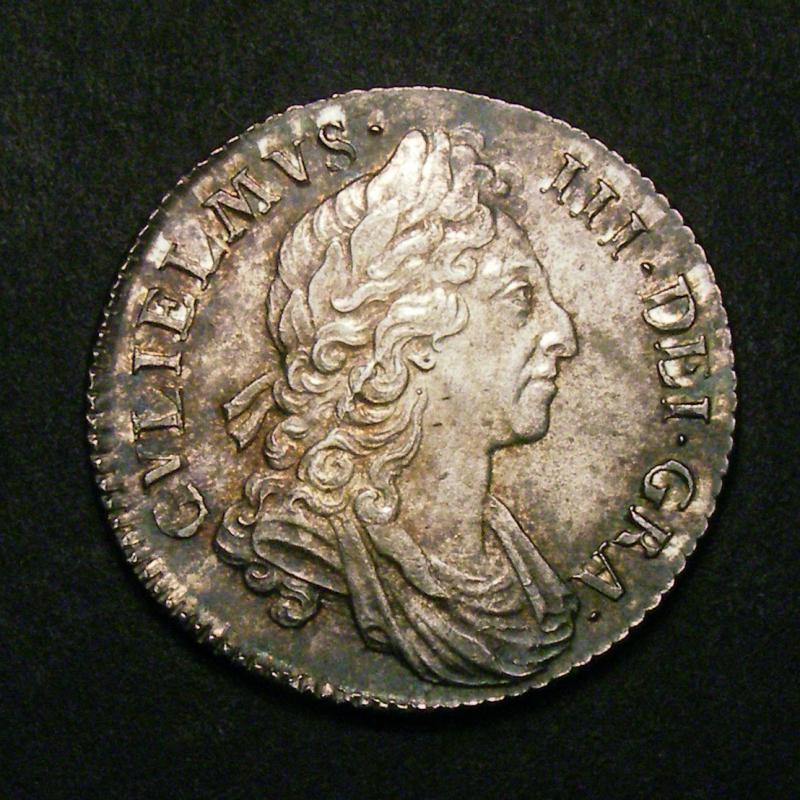 Shilling 1697 William III. Third Bust - Obverse