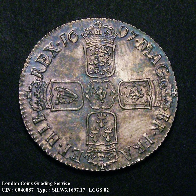Shilling 1697 William III. Third Bust - Reverse