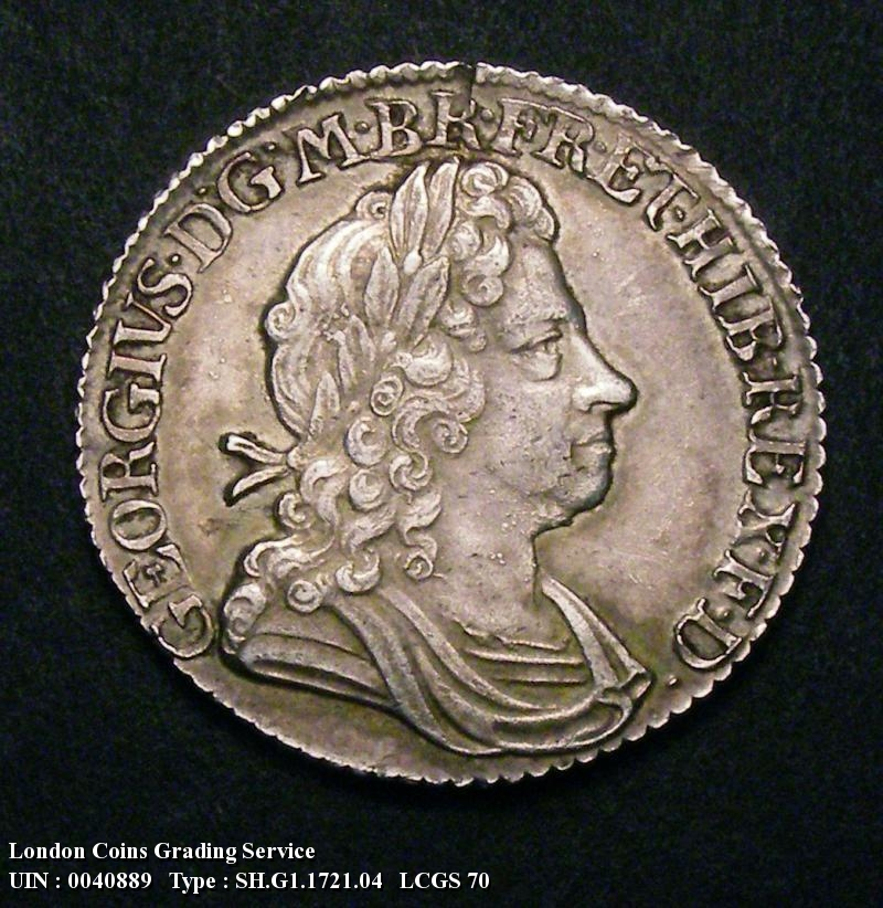 Shilling 1721 George I. 1 over 0 - Obverse