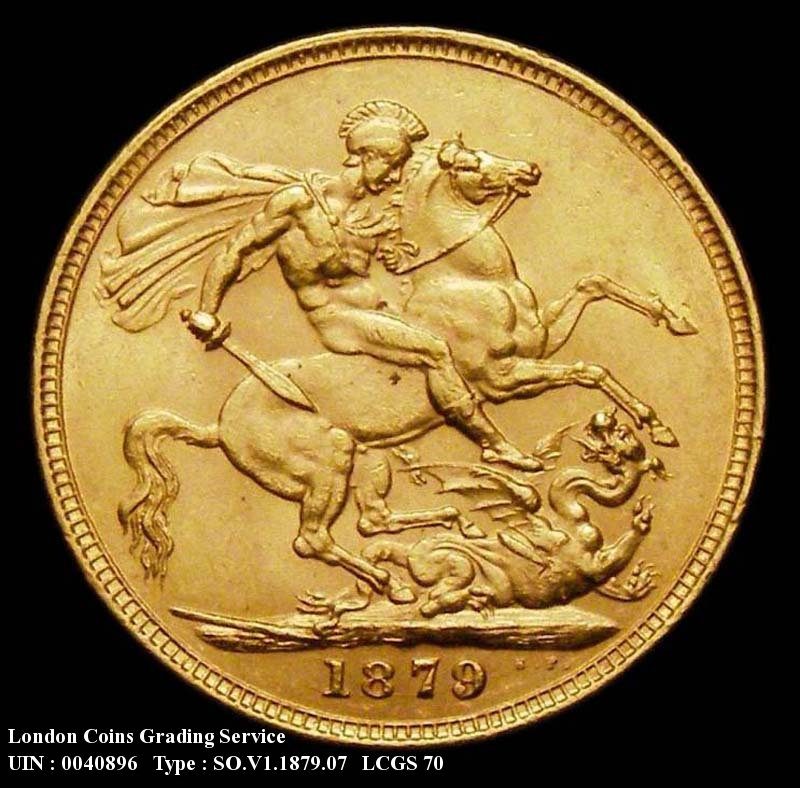 Gold Sovereign 1879 Victoria. George and the Dragon.