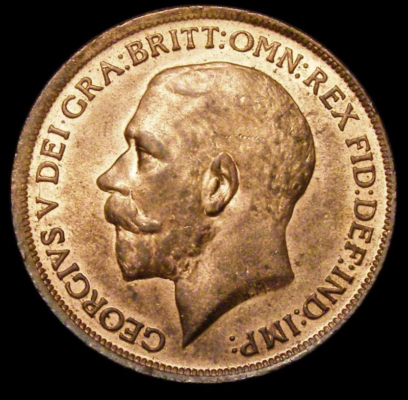Penny 1913 George V. Dies 1+A - Obverse
