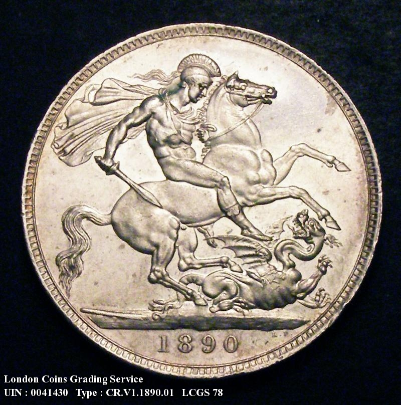 Crown 1890 Victoria. Standard type - Reverse