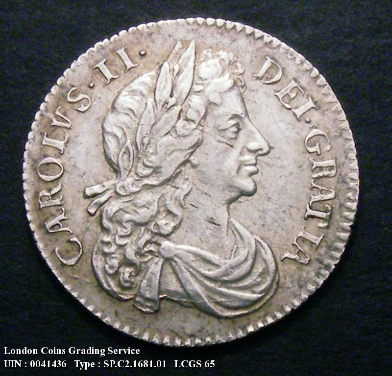 Sixpence 1681 Charles II. Standard type - Obverse