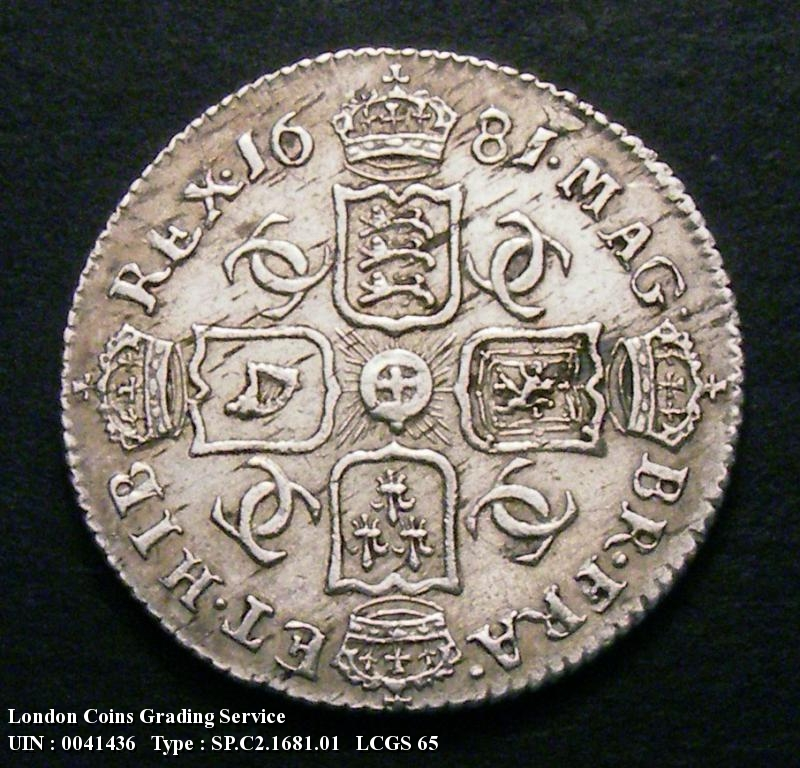 Sixpence 1681 Charles II. Standard type - Reverse